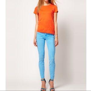 JBRAND neon blue jeans